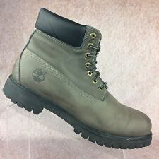 Timberland Men's Classic Style Boots Gray Black Nubuck Leather Lace Up, Size 11M