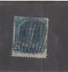 NEWFOUNDLAND (MK5401) # 31 FVF-USED  24cts 1865-94 QUEEN VICTORIA /BLUE  CV $40