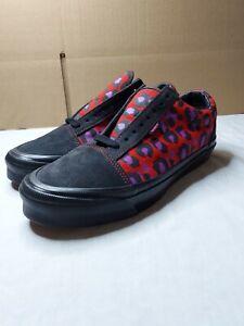 Vans Old Skool x Stray Rats Raven Racing Red Size 8.5 Men's / 10 Women's