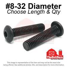 #8-32 Alloy Button Socket Head Cap Screws Bolts Black Oxide (Pick Size & Qty)