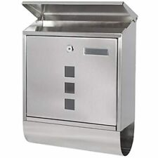 Stainless Steel Mailboxes With Key Lock, Wall Mounted Large Capacity Newspaper -