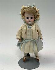 """Antique 4"""" German All-Bisque Stiff Neck Doll"""