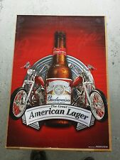 Brand New Budweiser Beer 2 Red Harley's Sturgis Chopper Motorcycle Poster