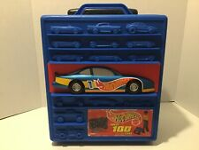 Vintage 1997 Mattel Hot Wheels Storage Rolling Travel Case, Holds 100 Cars