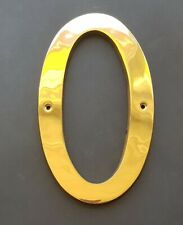 SOLID BRASS 90mm  HOUSE NUMBERS DOORS OFFICES POLISHED BRASS