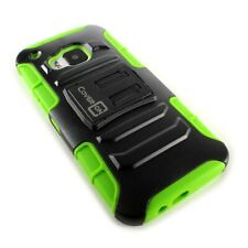 CoverON® For HTC One M9 Holster Case Kickstand Tough Cover - Neon Green & Black