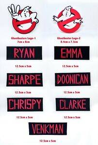 Ghostbusters Movie team member badges collection Iron/Sew on Embroidered Patch