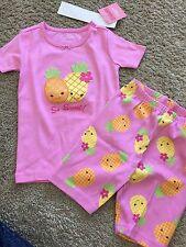 NWT NEW Gymboree Girls Pink Pineapple Short Johns Pajamas PJ 3