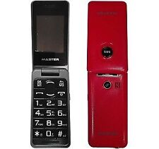 Cellulare per anziani Master Mf021s con Fotocamera SOS e Tasti grandi Rosso