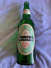 Vintage Large Heineken Glass Bottle 18�Tall Green Lager Beer West Germany