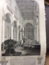 m4-8 ephemera 1849 picture byzantine church wilton salisbury 1 page