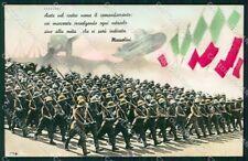 Militari WWII Propaganda Fascismo Coloniale PIEGA Foto cartolina XF6735