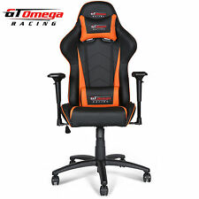 GT OMEGA PRO RACING GAMING OFFICE CHAIR BLACK NEXT ORANGE LEATHER ESPORT SEAT AK