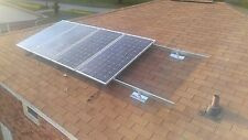 Solar panel mounting system for shingle roof, for 10 full size solar panels