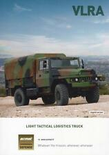 ACMAT VLRA 2016 4x4 6x6 FRENCH ARMY MILITARY BROCHURE PROSPEKT FOLDER