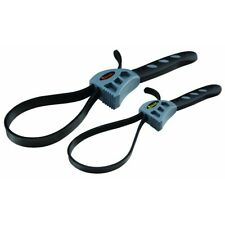 2 Piece Rubber Strap Wrench Set Non-Slip Grip-Right for Pipes, Jar lids, dowels