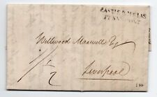 Scots 1834 entire / letter sheet Castle Douglas penny post to Wellwood Maxwell.