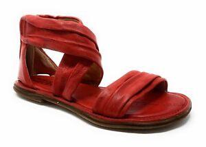 A.S.98 Ramos Klassische Sandale Rindsleder rot Gr. 36