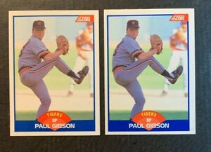 1989 Score ⚾ PAUL GIBSON #595 crotch grab & white out, ✨ RC ✨  - NM/MT