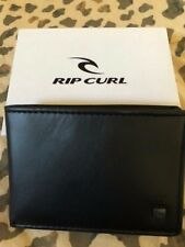 NIB Men's Rip Curl Wallet Cascade RFID Slim Black Surf line Card Case NEW