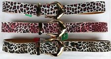 "NEW LADIES  LEATHER BELTS WOMENS  LEOPARD PRINT BELT 28""- 44"""