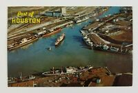 Postcard Port of Houston Shipyard Boats Houston Texas 1962