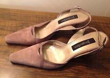 Jaques Vert dusky pink suede shoes, size 39/6
