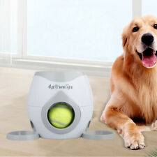Pet Dog Tennis Ball Toys Launcher Thrower Food Dispenser Fetch Training Machine