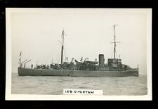 Navy British Shipping TIVERTON RP PPC by Perkins of Newton Abbot