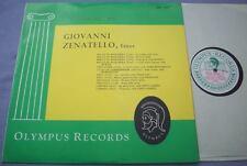 GIOVANNI ZENATELLO Tenor 1967 UK OLYMPUS Historical EX PLUS Verdi Bizet