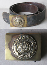 WWI OLD GERMAN BELT & BUCKLE / BAVARIAN INFANTRY / BAYERN