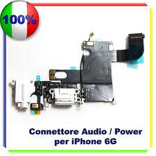 Flex Flat Dock Connettore Ricarica Microfono Jack Cuffie per IPHONE 6 GOLD
