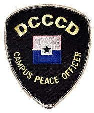 DCCCD – DALLAS COUNTY COMMUNITY COLLEGE TEXAS TX CAMPUS Police Sheriff Patch ~