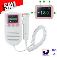Pocket  Fetal Doppler Color Baby Heart Monitor 2mhz Probe + Gel FDA US Seller