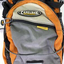 CamelBak orange Gray Mini Mule Hydration Pack Hydro bladder front icon hike bike