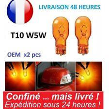 Paire T10 W5W Ambre Orange Phare Ampoule Halogène Clignotant Turn Signal Auto