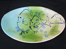Jim Rice Pottery The Clay Place Signed 2010 Naples Florida Island Fish Plate