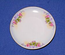 J & C Bavaria Plate Pink Roses Hand Painted Stouffer 6 inch Plate