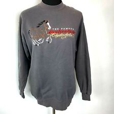 Budweiser Famous Clydesdale Sweatshirt size M Adult Gray Embroidered Carrousel