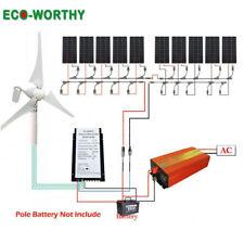 Eco-Worthy 1400W Hybrid Kit : 400W Wind Generator &10 pcs 100W mono Solar Panel