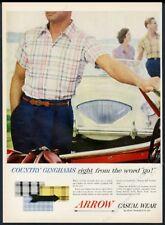 1955 Austin-Healey 100 car color photo Arrow men's shirt vintage fashion ad