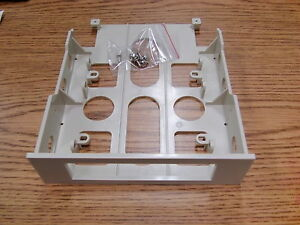 """LOT OF (2) 3.5"""" to 5.25"""" Open Front  Drive Bay Adapter Tray Bracket w/ hardware"""