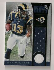 CHRIS GIVENS DOWN & DIRTY EVENT WORN ROOKIE JERSEY #001/299 ST. LOUIS RAMS RC #1