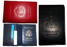 3 New USA Leather passport cover wallet credit ATM card case brand new with tag*