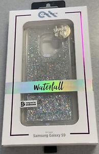 Case-Mate Samsung Galaxy S9 Case Waterfall Liquid Glitter - Silver *56F