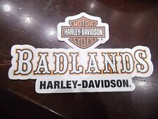 "Harley Davidson BADLANDS Decal Sticker 5"" X 3"""