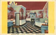 Highland Hotel roadside Springfield Massachusetts Interior Teich Postcard 5655
