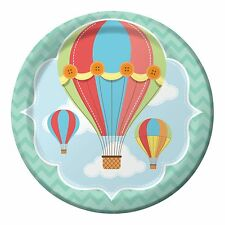 "up up & Away 9"" Plates Baby Shower Tableware Neutral Party Supplies Boy Girl X8"