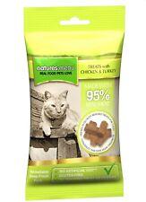 Nature's Menu Cat Treats Chicken & Turkey 60g 95% Real Meat Hypoallergenic Fresh