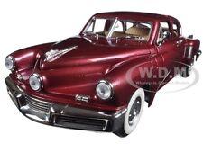1948 TUCKER TORPEDO BURGUNDY 1:18 DIECAST MODEL CAR  BY ROAD SIGNATURE 92268